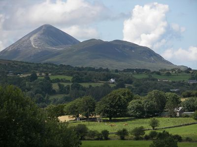 County Mayo house rental - A Closeup view of Croagh Patrick from our patio
