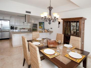 Dining table and Gourmet Kitchen