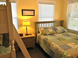Bald Head Island house photo - 2nd Bedroom has great natural light!- includes queen bed + heavy duty bunk beds