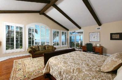 """Master Suite with Fireplace and Ocean Views"""