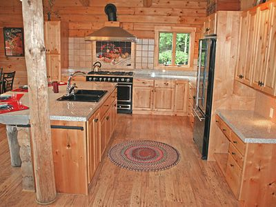 Spacious Gourmet Kitchen, White Mountain Log Home