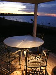 Southold house photo - View of Southold Beach from deck at Sunset