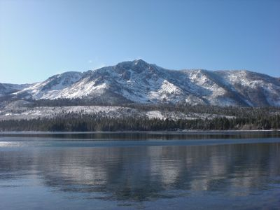 View to Mt. Tallac From Fallen Leaf Lake (20 minute walk from trailhead)