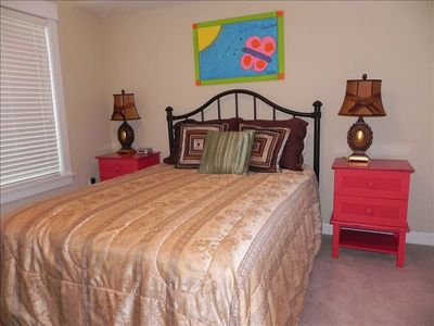 Guest Bedroom with Queen Bed & Flat Screen TV