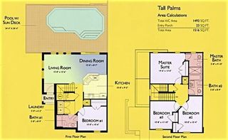 Encantada Resort townhome photo - The floor plan of the townhouse