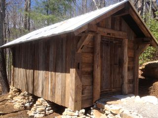 Sapphire cabin photo - New in 2013 is the wood shed. Now there will always be plenty of dry wood!