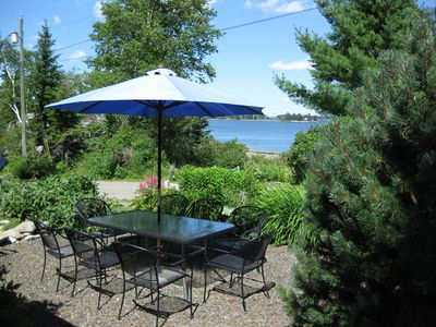 Owls Head cottage rental - Front Patio