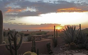 Marana cottage rental - A sweeping view of magical sunsets adds drama to your evening.