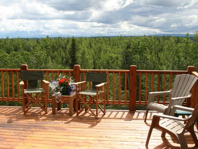 Distant Kenai Range from the Chalet deck