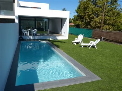 Luxury villa with private pool, 150 meters from the beach with golf club