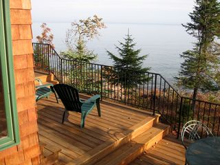 Lutsen house photo - decks facing south over Lake Superior