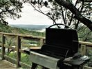 Gas grill with views of lake