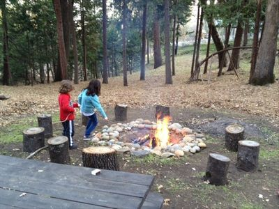 Bass Lake house rental - Outdoor Firepit