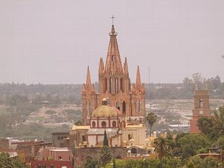 San Miguel de Allende villa photo - View of Parroquia from Roof top Deck