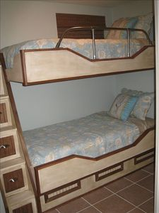 Nautical themed bunk beds.