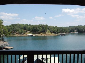 Lewis Smith Lake house rental - Lake view from upper deck.