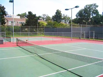 Tennis and Basketball courts have lights and are easily reserved.