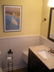 St. Simons Island condo photo - Tiled bathrooms are very accommodating.