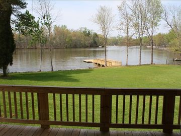 High Rock Lake house rental - View from back deck/balcony