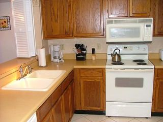 St. Augustine Beach condo photo - Kitchen with Refrigerator and Dishwasher