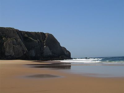 The beach at Praia Grande