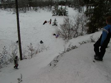 Best sledding hill right in your front yard