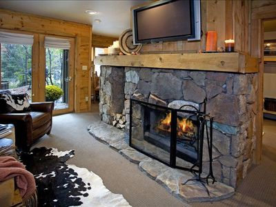 Wood Burning Fireplace - Large Flat-screen TV