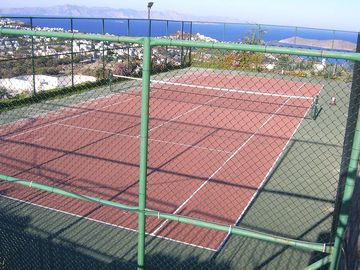 Hillview Gardens tennis courts, impressive views