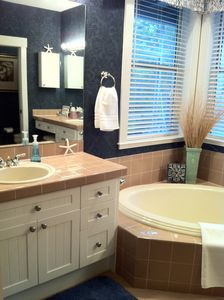 Too large to get it all in the pic! Two sinks, large soaker tub, large shower..