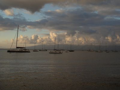 evening clouds over Lahaina harbor