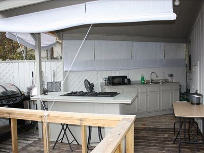 Large outdoor kitchen, perfect for entertaining.