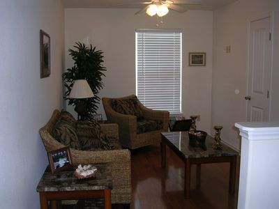 Port Aransas townhome rental - Upstairs loft provides separate room for all