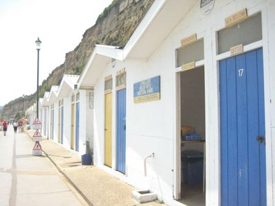 Beach huts on the way to Sandown