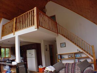 Schroon Lake house photo - Stairs to upper level