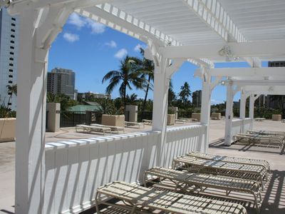 Waikiki condo rental - Relax Poolside under Blue Skies!!!