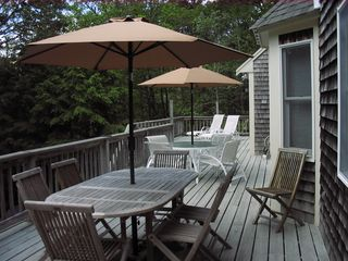Eastham house photo - Southern Exposure Deck Dining and Lounge Areas
