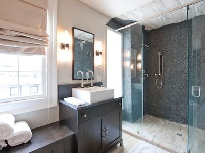 The Master Bathroom is en suite & features doulble showering areas