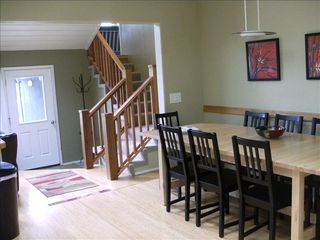 Yachats house photo - Large open dining/kitchen area,, sits 10 easily