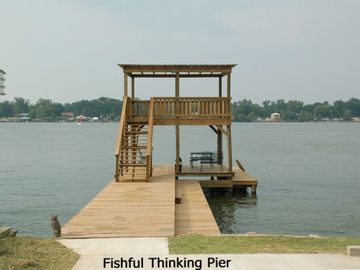 Baton Rouge cottage rental - Fishful Thinking Pier overlooking False River