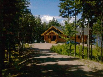 Gouldsboro cabin rental - Approaching your destination, the bay sparkles in the background...