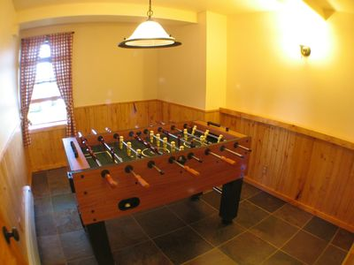 Burt Lake cabin rental - Game Room- Located in walk out basement.