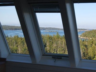 View of Ocean and Islands from 1 of 12 Second-Floor Skylights