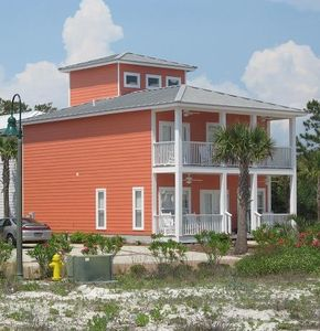 Dune Allen Beach house rental - Recent paint has made this house look even more beautiful!