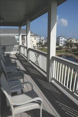 Galveston cottage photo - Enjoy our relaxing covered balconies.