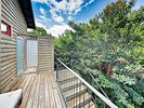 Deck - The deck includes an outdoor shower where guests can rinse off after a day at the lake.