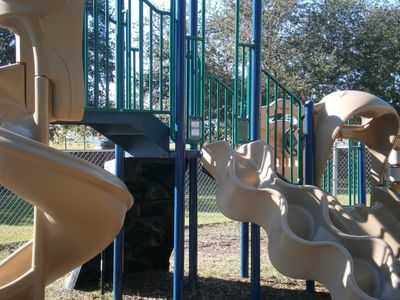 One of the community play areas