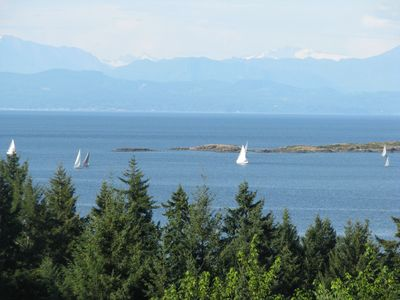 Nanoose Bay house rental - ocean view from our living room, dining room, kitchen, sunroom and mstr bedroom