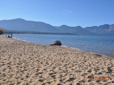 private beach on Lake Tahoe for Tahoe Keys residents and guests