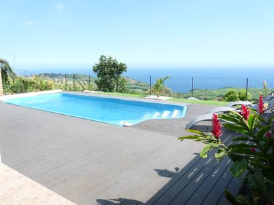 Near St Pierre, new furnished, panoramic sea views, private heated pool