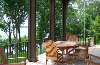 Lake upper patio.